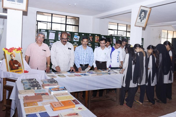 Book Exhibition in the library on the eve of Vivekananda jayanthi (1)